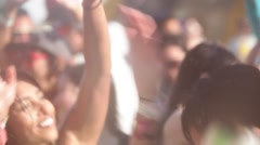 People dancing at festival - stock footage