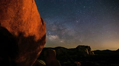 Incredible Milky Way Night Timelapse Passes Boulder Stock Footage