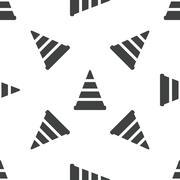 Stock Illustration of Traffic cone pattern