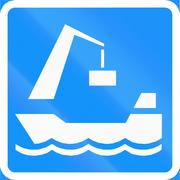Goods Harbor In Finland - stock illustration