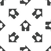 Beloved house pattern - stock illustration