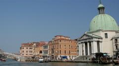 San Simeone Piccolo in Venice Italy Stock Footage