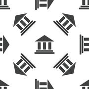 Classical building pattern Stock Illustration