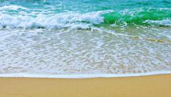 Gentle Waves Washing a Pristine Tropical Beach Stock Footage