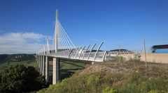 The Millau Viaduct in France. Stock Footage