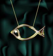 jewelry fish - stock illustration