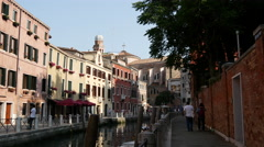 Rio Nuovo Canal in Venice Italy Stock Footage