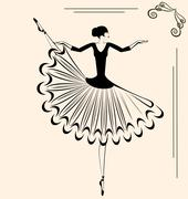 Stock Illustration of image of ballet dancer