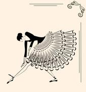 Image of ballet girl Stock Illustration