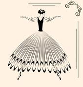 Stock Illustration of image of ballet woman