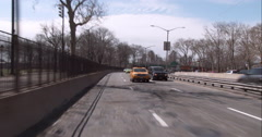 Stock Video Footage of Driving under the Williamsburg Bridge along the FDR Drive in downtown Manhattan
