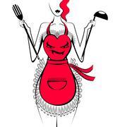 Funny apron Stock Illustration