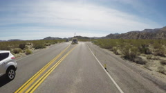 Viewpoint Entering Joshua Tree National Park Stock Footage