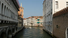 Water taxis in Venice Italy Stock Footage