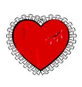 Abstract wounded heart Stock Illustration