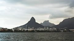 View of Rio de Janeiro city and Sugarloaf Mountain Stock Footage