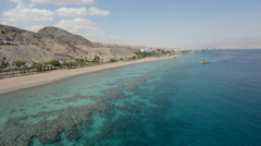 Aerial seascape of Coral Beach Nature Reserve in Eilat, Israel. Stock Footage