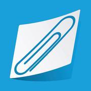 Paperclip sticker - stock illustration