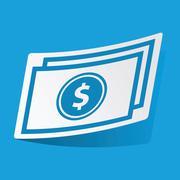 Dollar bill sticker Stock Illustration