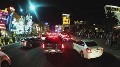 Gridlock On Las Vegas Boulevard- Night Stock Footage