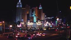 New York New York Casino And Las Vegas Boulevard- Las Vegas NV Stock Footage