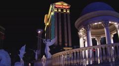 Low Angle Caesars Palace Hotel And Casino- Las Vegas NV Stock Footage