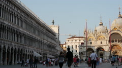 Time lapse from people at Piazza San Marco in Venice Italy Stock Footage