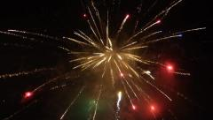 New Year fireworks Stock Footage