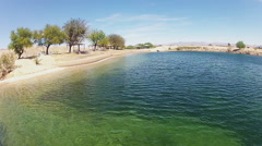 Beach And Lagoon At Big Bend State Park- Laughlin NV Stock Footage