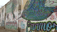 Graffiti in Peru Stock Footage