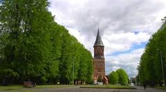 Kenigsberg Cathedral in Kaliningrad, timelapse Stock Footage