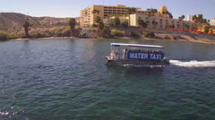 Casino Water Taxi On Colorado River- Laughlin NV - stock footage