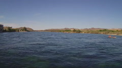 Canoes On Colorado River- Laughlin Nevada Stock Footage