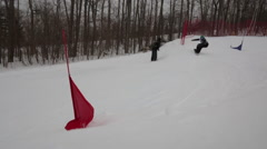 Snowboarding competition Stock Footage