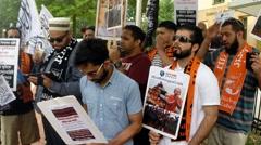 """Takbir… Allahu Akbar"" Rohingya Muslims (Clip 5 of 8) Stock Footage"