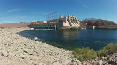 Davis Dam And Hydroelectric Power Plant On Colorado River- Laughlin NV 2 Stock Footage