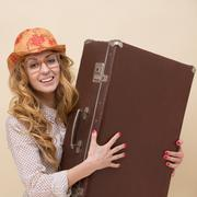 Fashionable traveller - stock photo
