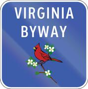Virginia Scenic Byway - stock illustration