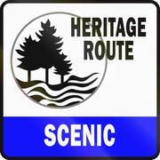 Michigan Scenic Heritage Route Stock Illustration