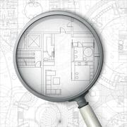 Architectural blueprint. Stock Illustration