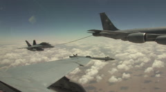 Stock Video Footage of Fighter jet refuels