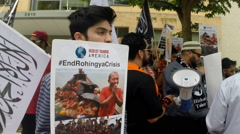 Rohingya Muslims (Clip 3 of 8) Stock Footage