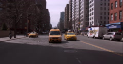 Driving along 3rd Avenue in Manhattan on a clear day - stock footage