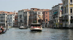 Time lapse from Gondolas, ferries and other boats in Venice Italy Stock Footage