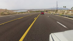 Vehicle Viewpoint Driving Highway 96 In Lake Havasu Arizona Stock Footage