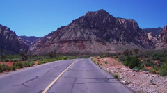 POV Motorcycle Riding In Spring Mountain Ranch State Park- Las Vegas NV Stock Footage
