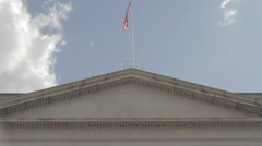 American Flag Gov Building D.C. Stock Footage