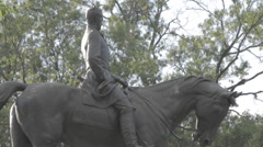Close up Statue Man on Horse, D.C. Stock Footage