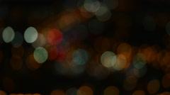 Bokeh lights at night 4K Stock Footage