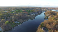 Aerial over river, 4K Stock Footage